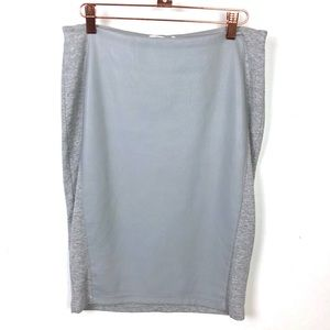 Anthropologie Bailey44 Gray Front Faux Leather S